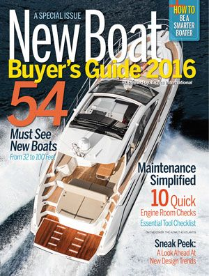 New Boat Buyer's Guide 2016 magazine cover shot