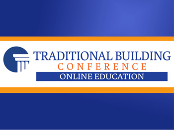 Traditional Building Conference Online Education logo.