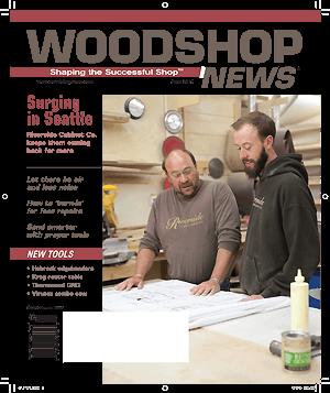 Woodshop News magazine cover.