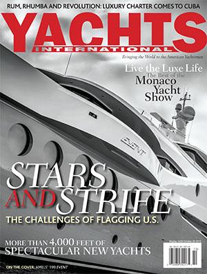Yachts International magazine cover shot.