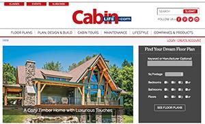 CabinLife.com website screenshot.