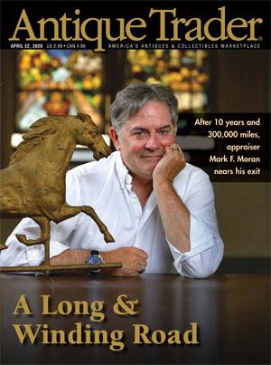 Antique Trader magazine cover shot of Mark F. Moran.