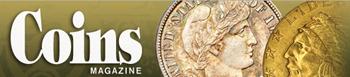Coins Magazine logo.