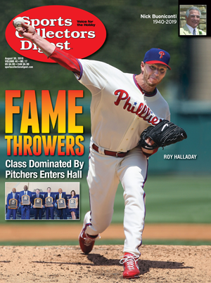 Sports Collectors Digest magazine cover of Phillies pitcher Roy Halladay.