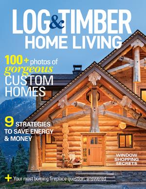 Log & Timber Home Living magazine cover.