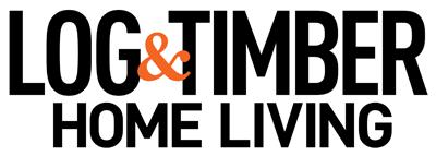 Log & Timber Home Living logo.